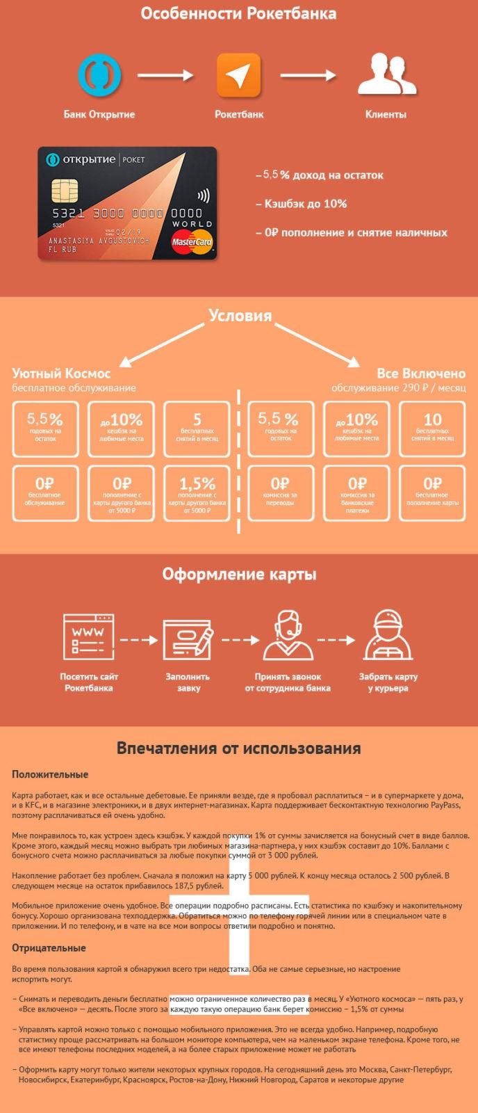 """""""Рокетбанк"""" - Дебетовая карта с кэшбэком"""